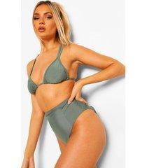essentials bikini broekje met hoge taille, salie