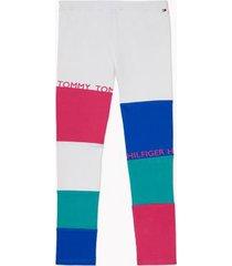 tommy hilfiger girl's adaptive color fashion legging classic white/multi - xl
