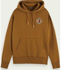 scotch & soda hoodie met geborduurd detail