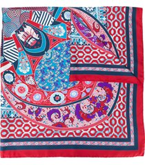 salvatore ferragamo printed scarf - red