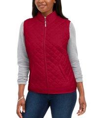 karen scott sport quilted puffer vest, created for macy's