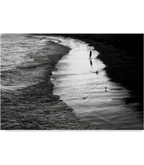 "american school lone man at sunset canvas art - 15"" x 20"""
