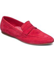 woms slip-on loafers låga skor röd tamaris