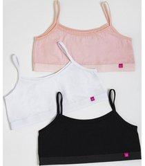 pack 3x peto algodon rosa kayser