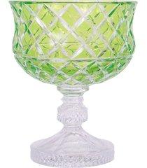 centro de mesa de cristal lodz – verde oliva
