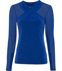 maglia a maniche lunghe con mesh (blu) - bodyflirt