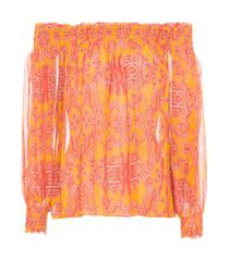 blusa top catarina - laranja