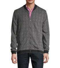 houndstooth check-print jacket