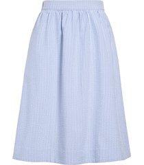 women's 1901 stripe seersucker midi skirt, size x-large - blue