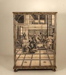 armário de madeira havre pintado com 20 gavetas - última peça - aproveite