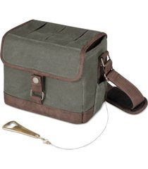 legacy by picnic time beer caddy khaki green & brown cooler tote with opener
