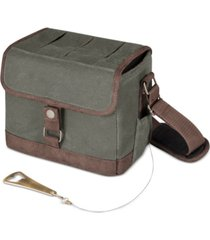 legacy by picnic time khaki green & brown beer caddy cooler tote with opener