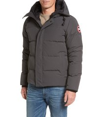 men's canada goose 'macmillan' slim fit hooded parka, size x-large - grey