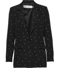 zanetaiw blazer blazers over d blazers svart inwear