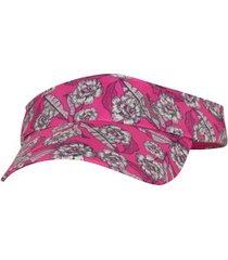 viseira oxer full print - adulto - rosa/branco