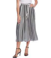 vince camuto striped belted skirt