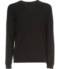 giorgio armani cotton silk sweater crew neck
