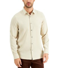 alfani men's micro texture shirt, created for macy's