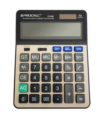 calculadora de mesa procalc pc289 12 dígitos solar preto