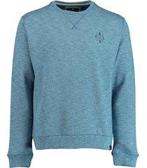 basefield sweater blauw ronde hals 219015067/606