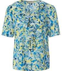 blouse met korte mouwen van uta raasch blauw