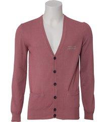 pepe jeans knopen vest - roze / rood