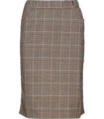 caroline tape skirt knälång kjol multi/mönstrad kaffe