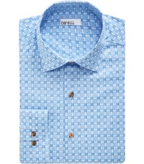 bar iii men's slim-fit performance stretch spanish tile-print dress shirt, created for macy's