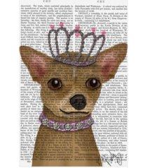 "fab funky chihuahua and tiara canvas art - 15.5"" x 21"""