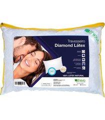 travesseiro de látex diamond 50 x 70 cm