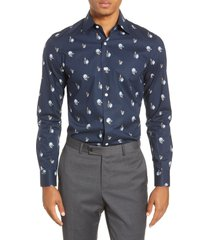 men's bonobos slim fit floral stretch dress shirt