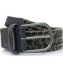 anderson's belts woven  braided leather belt | multi | af2817001