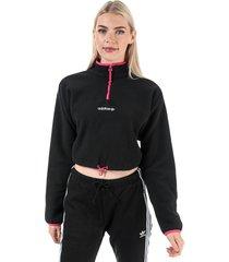 womens polar fleece crop top