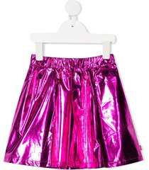 billieblush metallic flared skirt - pink