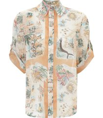 kirra button up shirt in queensland print