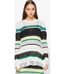 proenza schouler striped knit top black/white/green m