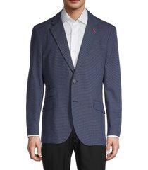 tailorbyrd men's pin dot standard-fit suit jacket - navy - size 46 l