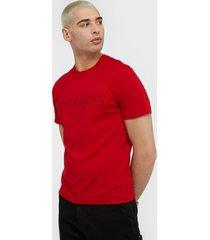 lacoste tee-shirt t-shirts & linnen red