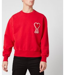 ami men's de coeur sweatshirt - rouge - xl