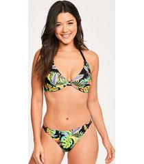 electro beach underwire bandless halter top