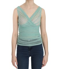 stretch mesh tank top