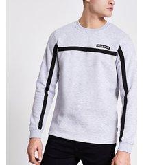mens jack and jones grey tape sweatshirt