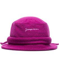 jacquemus le bob bucket hat - purple