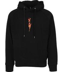 neil barrett fire thunderbolt hoodie