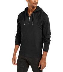 inc men's pieced quarter-zip hoodie, created for macy's
