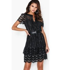 michael michael kors lux metal lace dress skater dresses