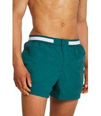 men's river island taped swim shorts, size large - green