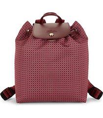 dandy leather-trim printed backpack
