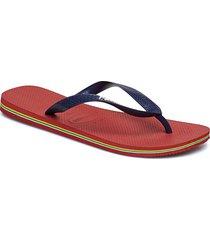 brasil logo flip flop shoes summer shoes flip flops röd havaianas
