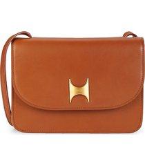 kintu new york women's natural tanned leather crossbody bag - tan brown